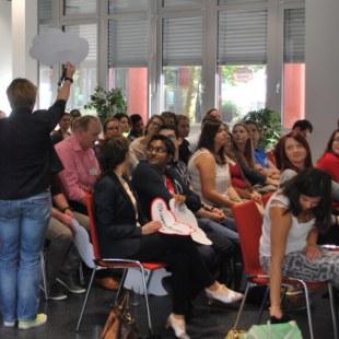 Start des Berufseinstiegstag an der Universität Duisburg-Essen (Foto: ArbeiterKind.de)