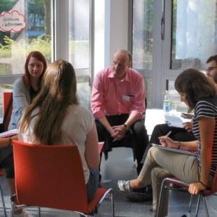 Gesprächsrunde zum Thema Geisteswissenschaften in Unternehmen (Foto: ArbeiterKind.de)