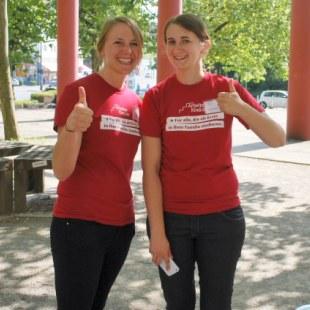 Unsere ArbeiterKind.de-Koordinatorinnen Kirsten Rott (links) und Silke Tölle-Pusch (Foto: ArbeiterKind.de)