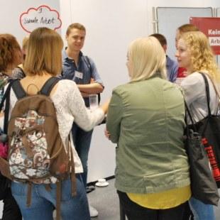 Gesprächsrunde zum Thema Soziale Arbeit (Foto: ArbeiterKind.de)