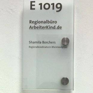 Unser neues Büro im Raum E1019 an der Hochschule Ludwigshafen. Foto: ArbeiterKind.de/ Shamila Borchers