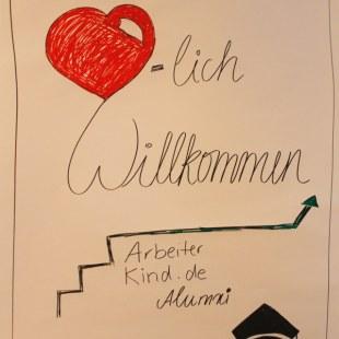 Willkommen beim 1. Alumnitreffen von ArbeiterKind.de in Hannover (Foto: ArbeiterKind.de)