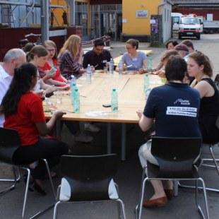 Regionaltreffen Kaiserslautern: Mittagspause (Foto: ArbeiterKind.de)