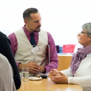 EAN 2017: Gesprächsrunde während der Kaffeepause (Foto: Rolf K. Wegst)