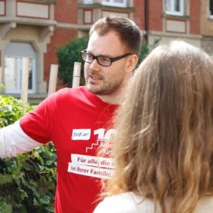 Regionaltreffen Baden-Württemberg in Karlsruhe: Gespräch (Foto: ArbeiterKind.de)