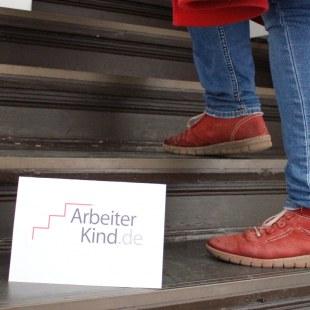 Die Stufen zum ArbeiterKind.de-Büro in Berlin.