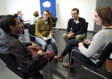 Gesprächsrunde beim Berufseinstiegstag 2017 in Bochum (Foto: ArbeiterKind.de)