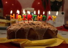 Geburtstagskuchen mir Kerzen