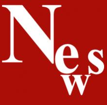 In weißer Schrift auf rotem Grund steht News.