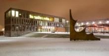 Abendstimmung auf dem Campus (Foto: Hochschule Fulda)