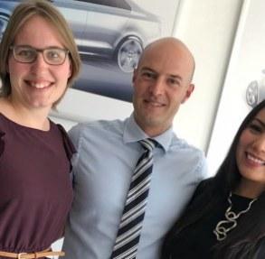 Unsere ArbeiterKind.de-Mentorin Theresa (links) mit ihrem Chef Jan Dickmann und Kollegin Alicia Cabrera in Mexiko Foto: privat