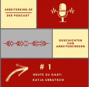 Cover für unseren Podcast mit Mikrofon und Tonspur