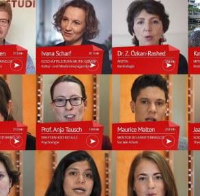 Bildschirmfoto der Internetseite www.ersteanderuni.de